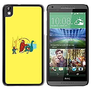 EJOY---Cubierta de la caja de protección la piel dura para el / HTC DESIRE 816 / --Bigfoot y Loch Ness divertido