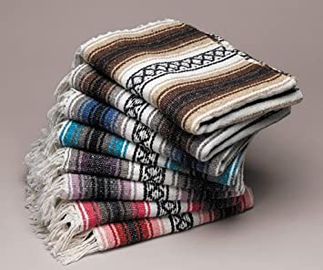 Amazon.com: Ten 10 Large Authentic Mexican Falsa Blanket ...