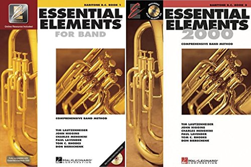 Essential Elements for Band - Baritone B.C., Books 1-2, 2 Book Set