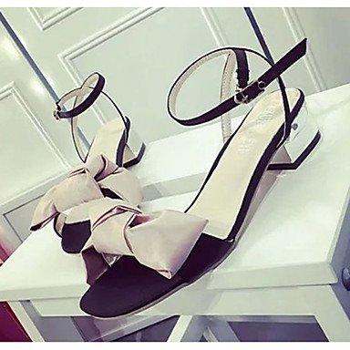 LvYuan Mujer-Tacón Plano-Confort-Sandalias-Exterior-PU-Negro Rosa Gris gray