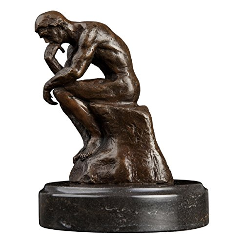 (Famous Classical Thinker Bronze Statue by Rodin Bronze Sculpture Figurine Metal Art Décor)