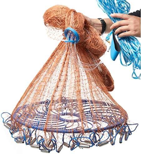 BINZHI 釣りネットフリスビー投げネットタイヤライン釣りネット鉄落下キャスティングネット用餌トラップ3.6 m、4.2 m (Color : A)