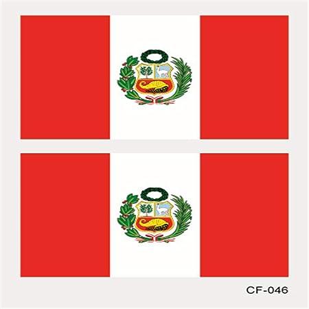 zgmtj Pegatina del Tatuaje de la Bandera de la Taza de Mundo CF ...