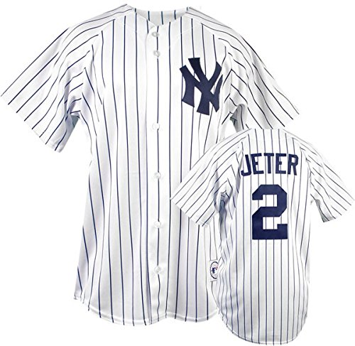 New York Yankees Derek Jeter White Replica Home Jersey - Derek Jeter Majestic Player