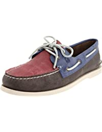 Men's Authentic Original 2-Eye Boat Shoes, Genuine All Leather and Non-Marking Rubber Outsole
