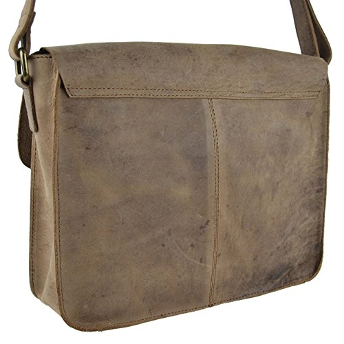 Uomini Donne Buffalo Pelle Media Borsa A Tracolla da Rowallan of Scotland; Denver Collezione