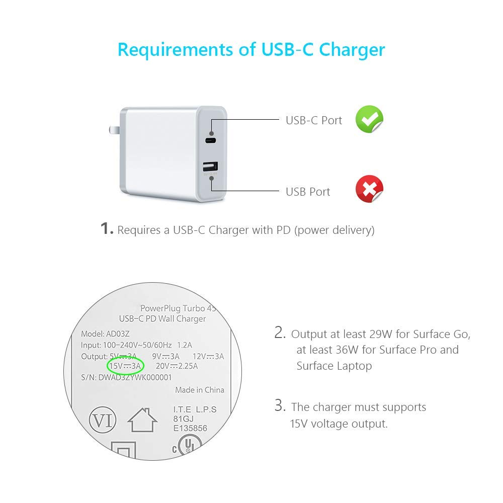 @ccessory usb c to surface pro connector pd charging: amazon in: electronics