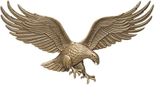 White Hall Decorative 36 Wall Eagle – Antique Brass