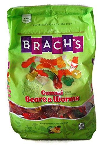 Brachs Gummi Bears & Worms, 48 Oz Bag (3 Lbs) by Brach's