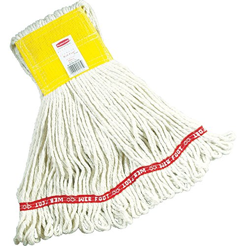 Rubbermaid Commercial Web Foot Wet Mop, Medium, White, FGA15206WH00 (Foot Mop Web Wet Compact)