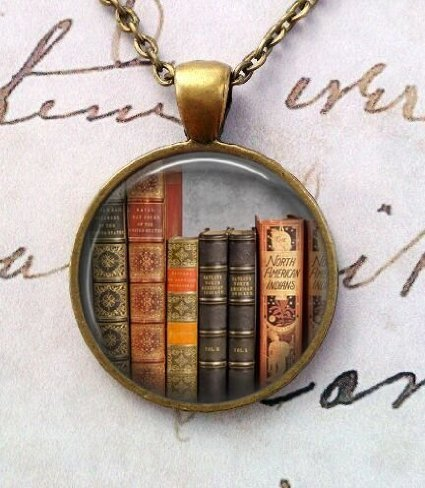 Library Book Necklace,