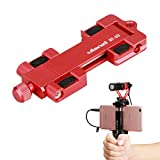 Ulanzi ST-03 Metal Smart phone Tripod Mount with Cold Shoe Mount and Arca-Style Quick Release Plate for iPhone 7 Plus Samsung HuaWei,Cell Phone Tripod Holder Clip Adapter (Red)