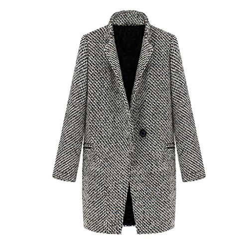 Houndstooth Coat Jacket - 3