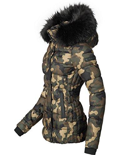 Unique xl Camuffamento Invernale Xs Marikoo Colori Da Donna 8 Trapuntata Giacca zFgwq6d