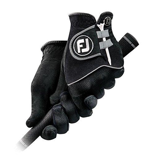 FootJoy RainGrip Pair Golf Gloves 2017 Regular Black Fit to Right and Left Hand Medium/Large