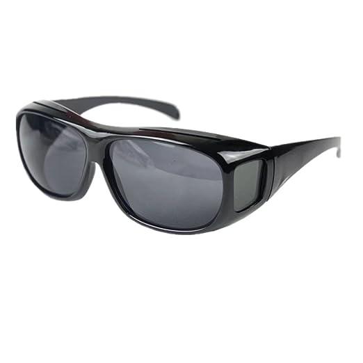 722585df0b Amazon.com  ClearVision HD Night Optics Wraparound Glasses Black ...