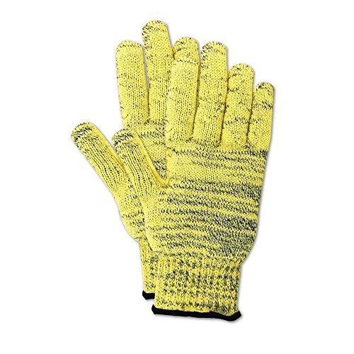 Kevlar Knit Shell Glove - Magid Glove & Safety KA1000-6 Cut Master KA1000 Kevlar Armor Blend Seamless Knit Gloves, Cut Level 5, X-Small, Yellow