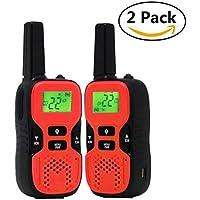 OWIKAR Kids Walkie Talkies, 22 Channel FRS/GMRS 2 Way Radio Walkie Talkies 2 Miles (Up to 3.7 Miles) Handheld Mini Walkie Talkies for 5-year old Boys and Girls, Kids (Red)