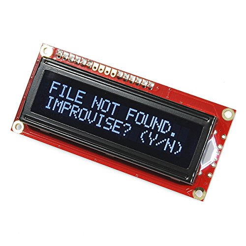 Sparkfun Serial Enabled 16X2 Lcd - White On Black 3.3V by SparkFun