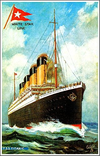 (MAGNET 1912 Titanic Ocean Liner Whtie Star Line Art Travel Advertisement Magnet Print)