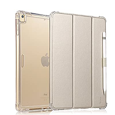 Valkit for iPad Pro 10.5 Cover, iPad Pro 10.5 Case, Smart Folio Stand Protective Heavy Duty Rugged Impact Resistant Armor for Apple New iPad Pro 10.5 Inch 2017 with Apple Pencial Holder, Champagne