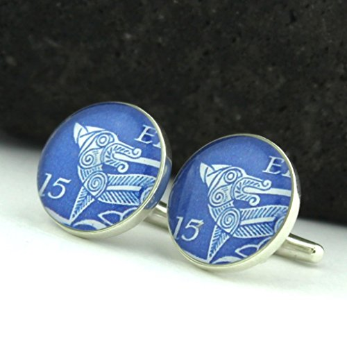 Hound Postage (Irish Hound Cufflinks - Irish Postage Stamp Sterling Silver Cufflinks (Cuff)