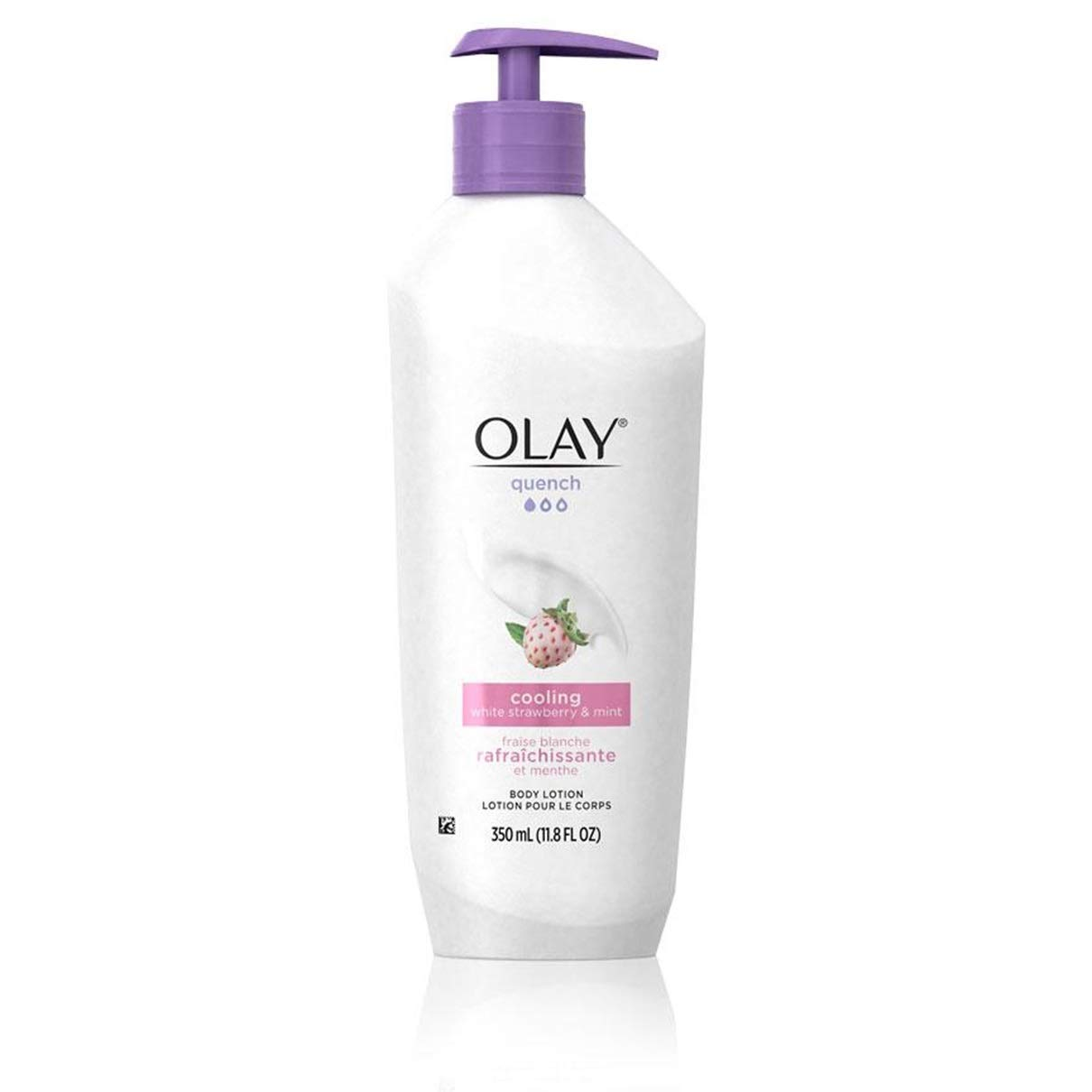 Olay Quench Cooling White Strawberry & Mint Body Lotion 11.8 oz, 2 Pack