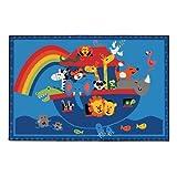 Cheap Carpets for Kids 36.74 Noah's Animals Rug – 3′ x 4'6″ Rectangle
