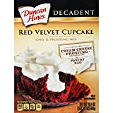 Duncan Hines Decadent Cupcake Mix, Red Velvet, 19.4 oz