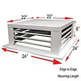 GSW DF-22P 22-Inch White Powder Coated 4-Way Adjustable Metal Diffuser for Evaporative/Swamp Cooler