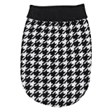 East Side Collection 8-Inch Acrylic Oxford Houndstooth Dog Sweater, XX-Small, Black/White, My Pet Supplies