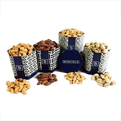Benevelo 4 Tin Flavored Snack Set (Roasted and Salted Nuts)
