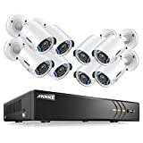 ANNKE 3MP Surveillance DVR Kits Premium Complete Surveillance System and 8 Channel Digital Video Recorder + 8x1080P Home Security Camera with Night Vision, Email Alarm with Picture,Free App,NO HDD