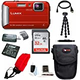Panasonic Lumix DMC-TS30 Digital Camera (Premium, Red)