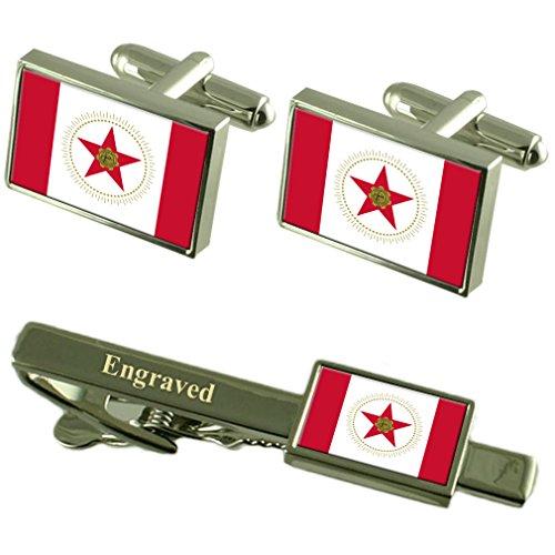 Birmingham City USA Flag manchette gravé Set Cravate