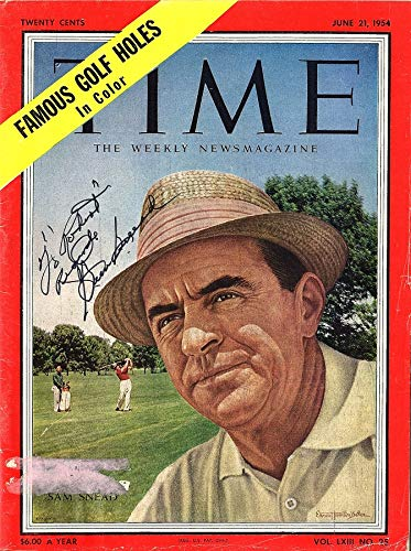 (Sam Snead Signed - Autographed TIME Full Magazine 6/21/54 personalized to ROBERT)