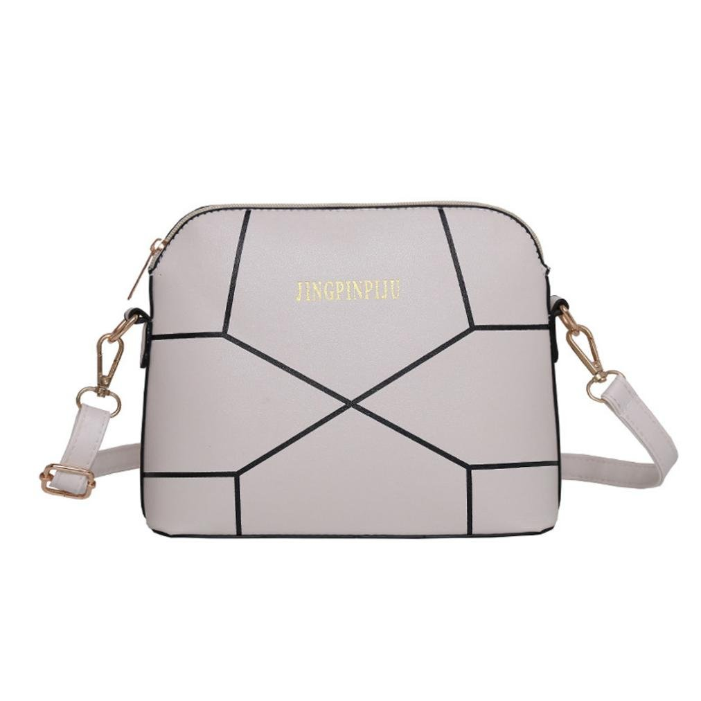 Small Bags For Women,Women Fashion Handbag Crack Shoulder Bag Large Tote Ladies Purse Leather Shoulder Bags Satchel Messenger Bag Duseedik Clearance (White)