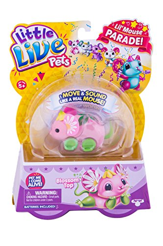 LITTLE LIVE PETS S4 LIL' MOUSE SINGLE PACK BLOSSOM TOP