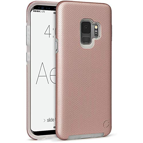 low priced c4815 bf75e Cellairis - Aero Grip Cell Phone Case for Samsung Galaxy S9 (Rose Gold)
