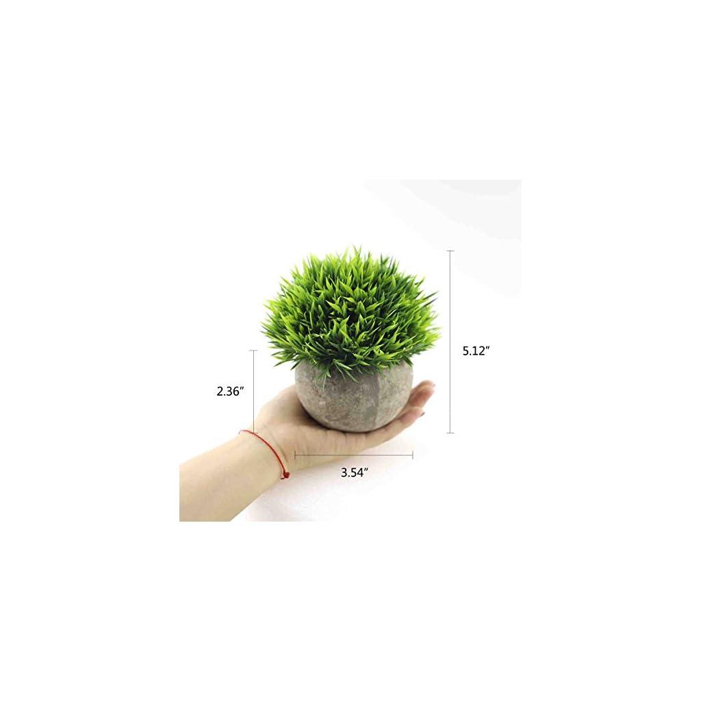 CEWOR-4-Pack-Artificial-Mini-Plants-Plastic-Mini-Plants-Topiary-Shrubs-Fake-Plants-for-BathroomHouse-Decorations