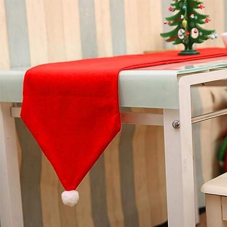 BulzEU Noel Christmas Camino de Mesa Rojo Sombrero decoración para ...