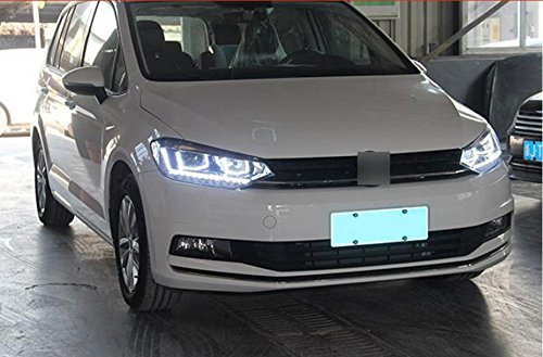 GOWE Car Styling For VW Touran headlights 2016 -For Touran head lamp led DRL front Bi-Xenon Lens Double Beam HID KIT Color Temperature:8000k;Wattage:55w 3