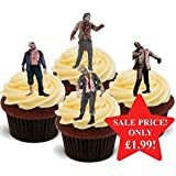 Halloween Scary Real Life Zombies Mix - Fun Novelty PREMIUM STAND UP Edible Wafer Paper Cake Toppers Decoration