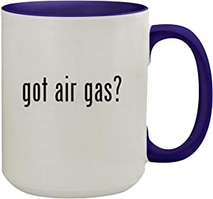 got air gas? - 15oz Ceramic Inner & Handle Colored Coffee Mug, Deep Purple