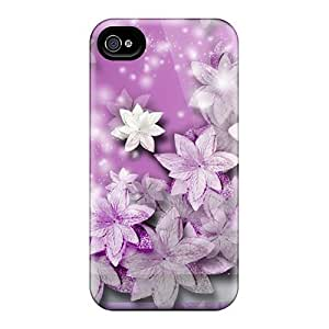 Iphone 4/4s Case Cover Lavender Flower Scatter Case - Eco-friendly Packaging