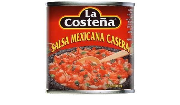 Amazon.com: La Costena Original mexicanische Salsa Casera, 1er Pack (1 x 2.95 kg Dose)