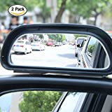 HJJH Blind Spot Mirror, Car Lens For Blind Side, Reversing Mirror Into Auxiliary Mirror, Adjustable Wide Angle, Side View Mirror Blind Spot, 2 Pieces.
