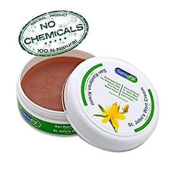 SanteFIX St John's Wort -No Chemicals- Skin Cream with Olive Oil for Acne &  Hemorrhoid & Scar Removal