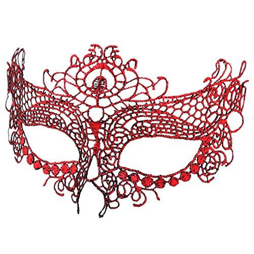 (BaiYunPOY Mask Lace, Womens Masquerade Venetian Mask for Carnival Party )