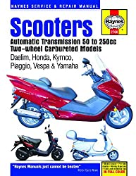 Scooters Automatic Transmission 50 to 250cc Two-Wheel Carbureted Models (Haynes Service & Repair Manual)